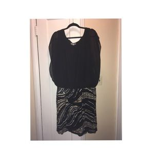 Cb black and sequined dress like new!